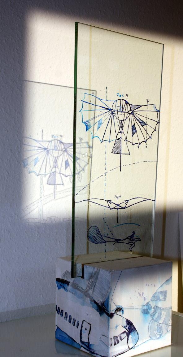 Künstliches Flugobjekt - 15 x 17 x 70 cm (c) Objekt von Susanne Haun