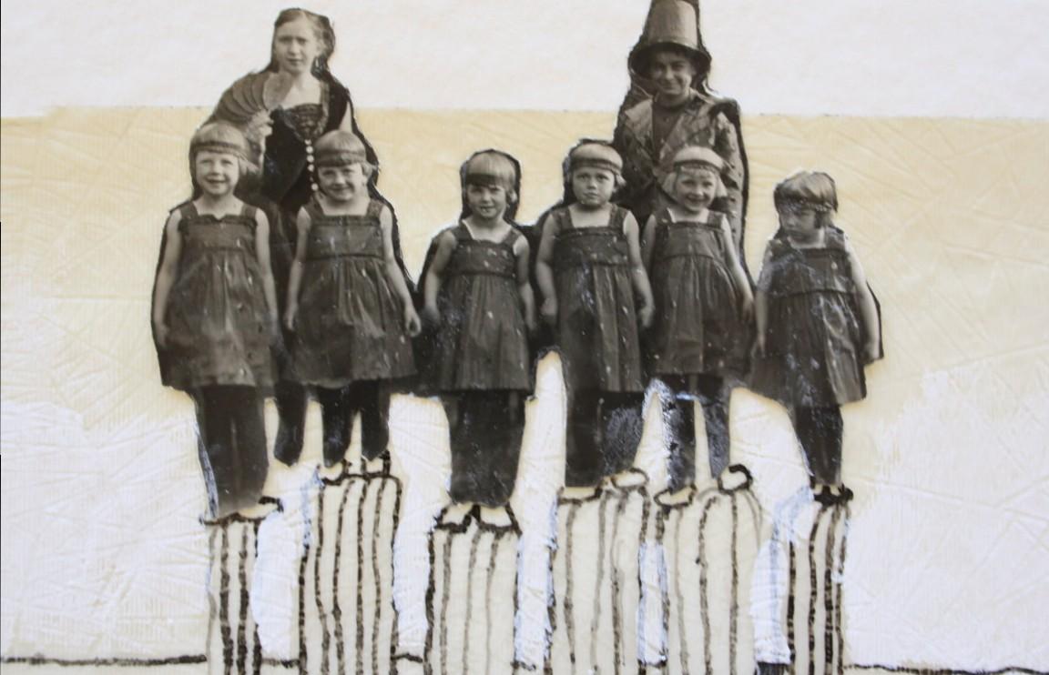 Detail 1 - Blatt 35 - Strandgeflüster - 25 x 25 cm - Collage von Susanne Haun