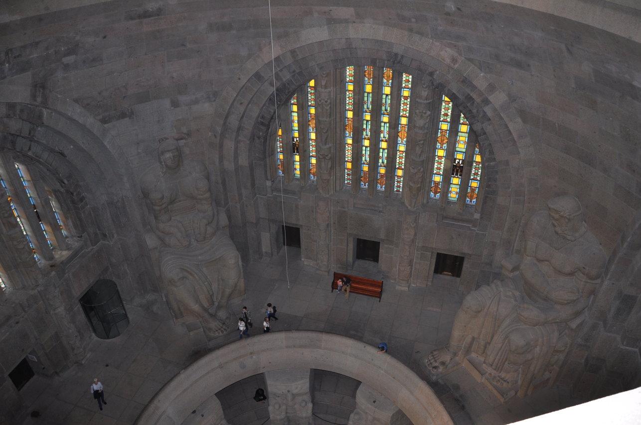 Einblick in das Innere des Vökerschlachtdenkmal (c) Foto von M. Fanke