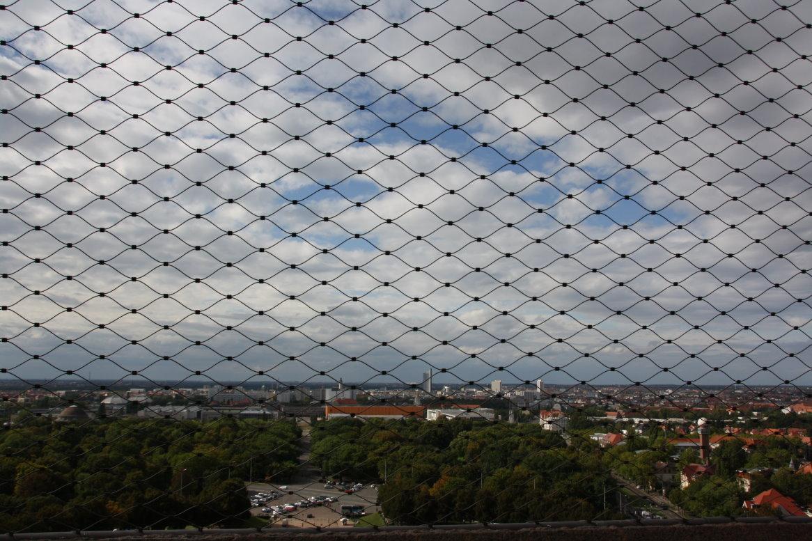 Ausblick vom oberen Besucherpunkt des Vökerschlachtdenkmals (c) Foto von Susanne Haun