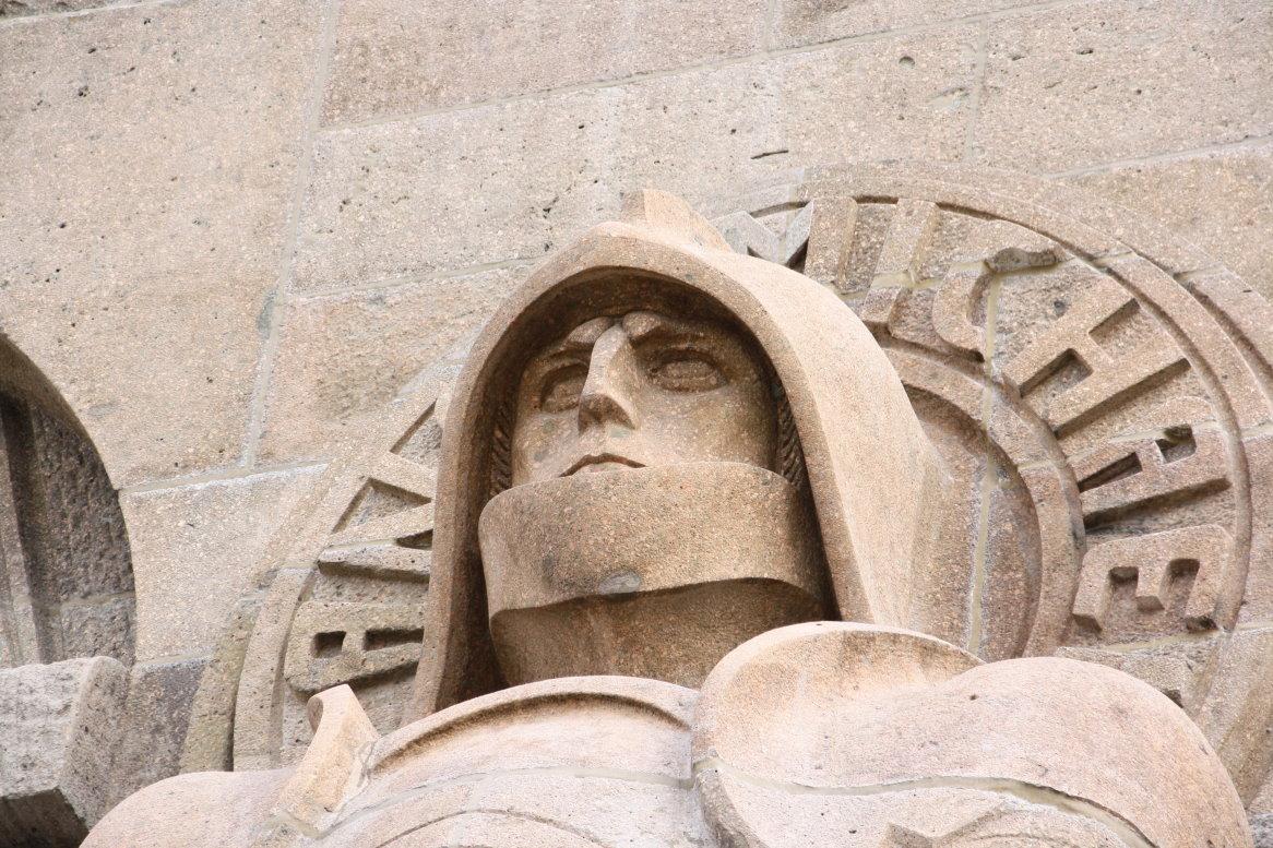 Der Erzengel Michael, Wächter des Völkerschlachtdenkmals (c) Foto von Susanne Haun