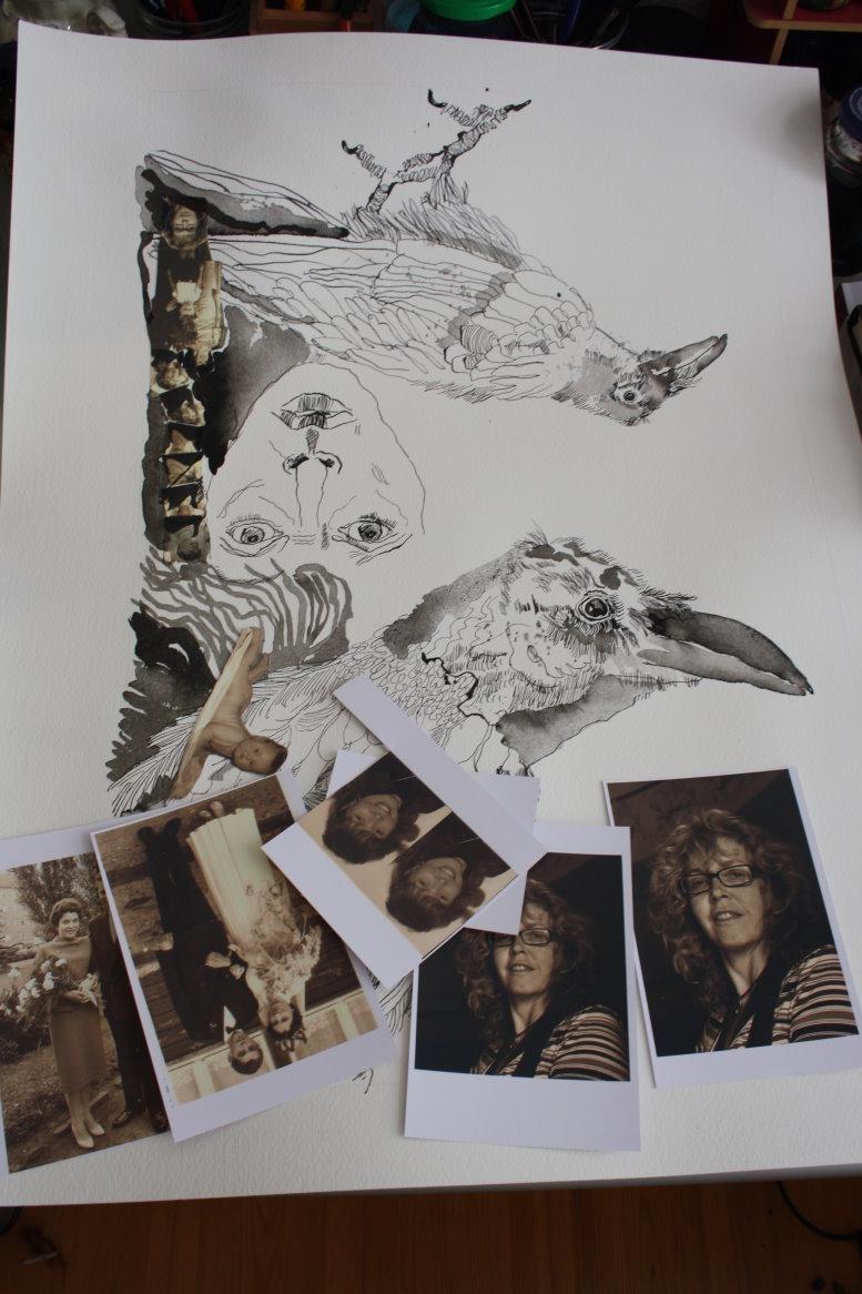 Entstehung der Collage - Mein reines, individuelles, abstraktes ICH (c) Susanne Haun