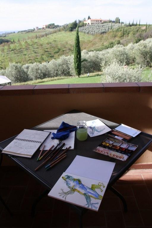 Ein idealer Ort zum zeichnen und Malen (c) Foto von Susanne Haun