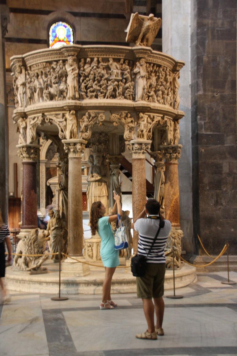 Kanzel im Dom von Pisa von Nicola Pisano (c) Foto von Susanne Haun