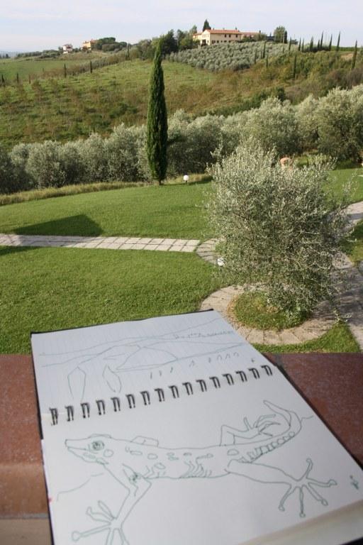 Ein idealer Ort zum Zeichnen (c) Foto von Susanne Haun