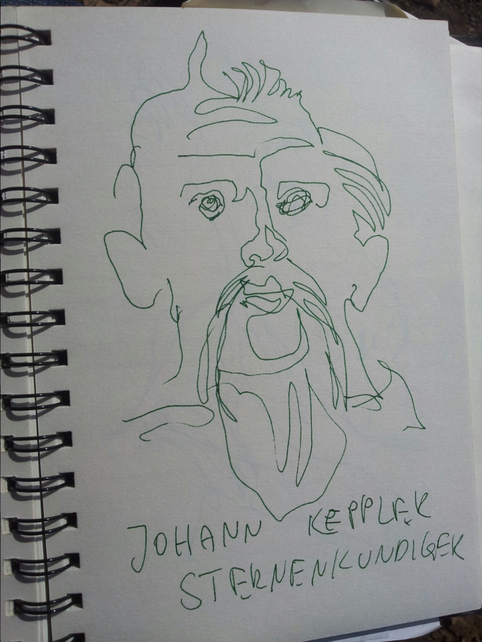 Johann Keppler - Zeichnung von Susanne Haun