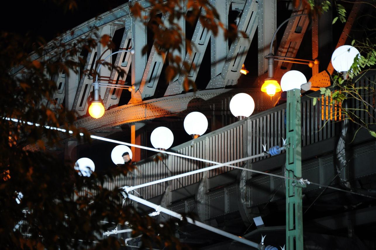 Bösebrücke Ballon - Mauer - 25 Jahre Mauerfall 2014 (c) Foto von Michael Fanke