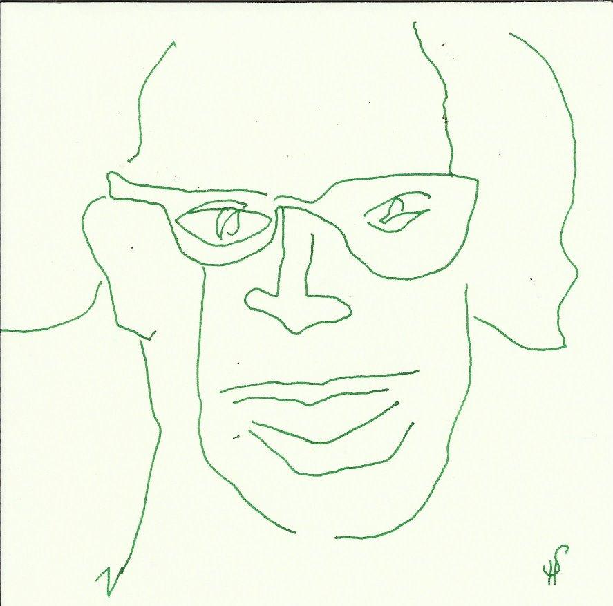 Meine Vorstellung von Hannah Arendt (c) Zeichnung von Susanne Haun