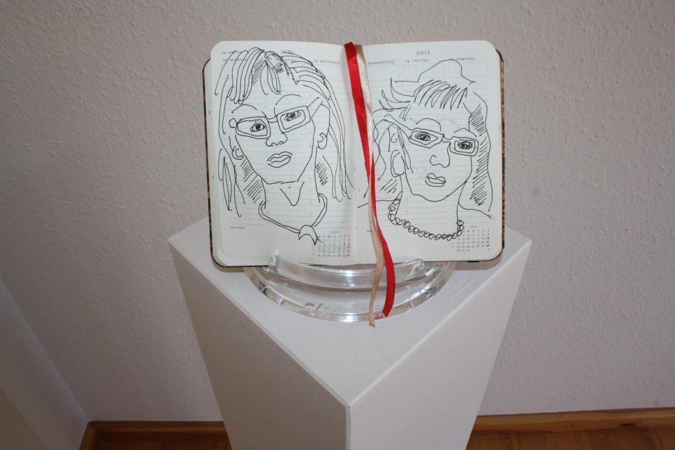 Präsentation Künstlerbuch Susanne Haun
