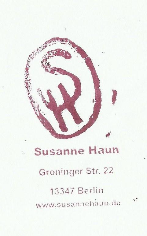 Stempel Monogramm Susanne Haun (c) Foto von Susanne Haun