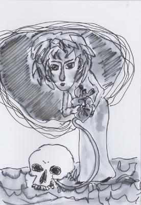 Bewusst Sein 2. Blatt (c) Zeichnung von Heike Sackmann