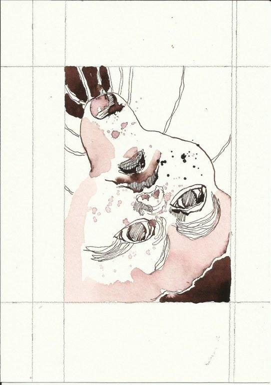 Bewusst Sein 3. Blatt Version 2 (c) Zeichnung von Susanne Haun
