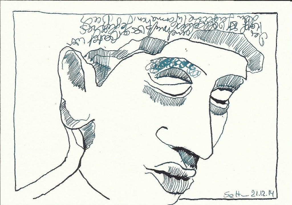 Ägypter 1- Zeichnung von Susanne Haun