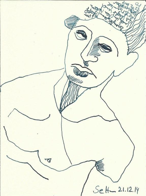 Ägypter 2- Zeichnung von Susanne Haun