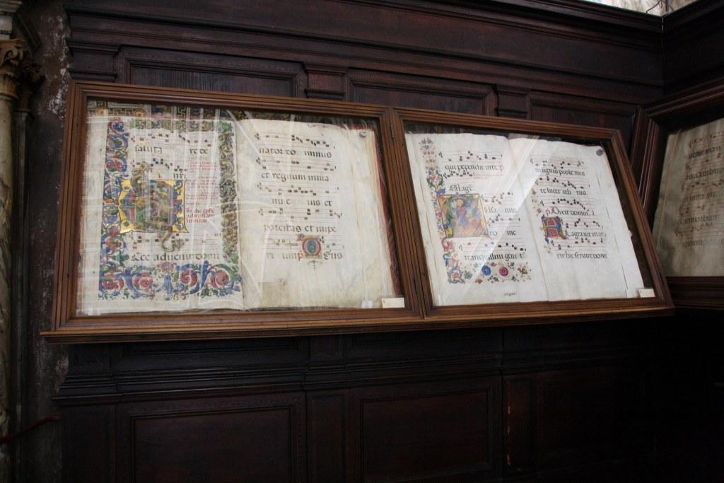 Chorbücher in der Bibliothek des Siener Doms (c) Foto von Susanne Haun