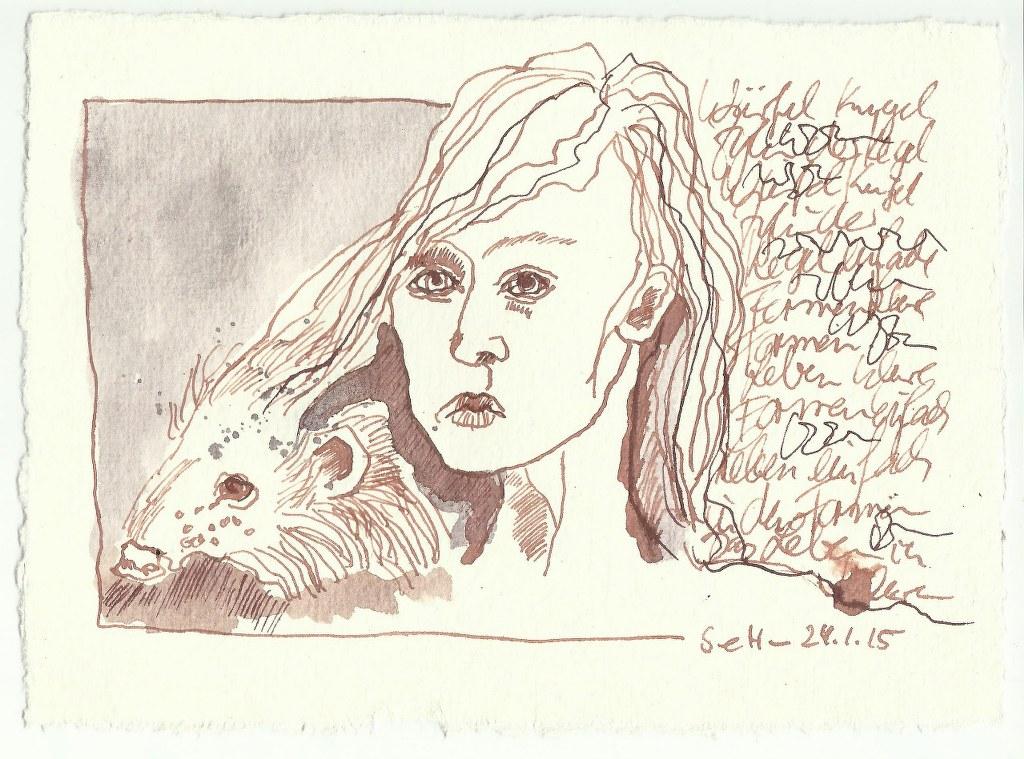Romanisch (c) Zeichnung von Susanne Haun