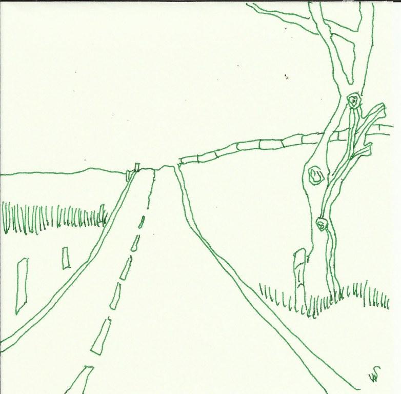 Strassen vor mir (c) Zeichnung von Susanne Haun
