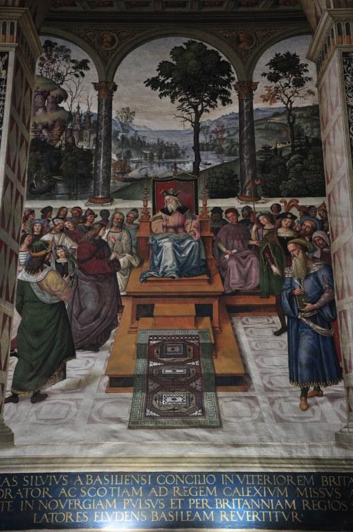 In der Bibliothek des Siener Doms Papst Pius II. segnet die Kreuzfahrer (c) Foto von M.Fanke