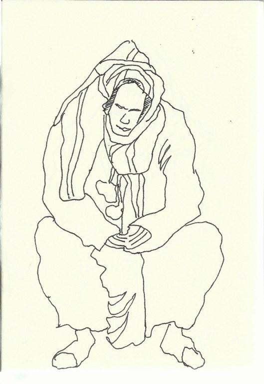 Platz der Gaukler (c) Zeichnung von Susanne Haun