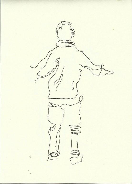 Im Konzerthaus - Dirigent (c) Zeichnung von Susanne Haun 0001