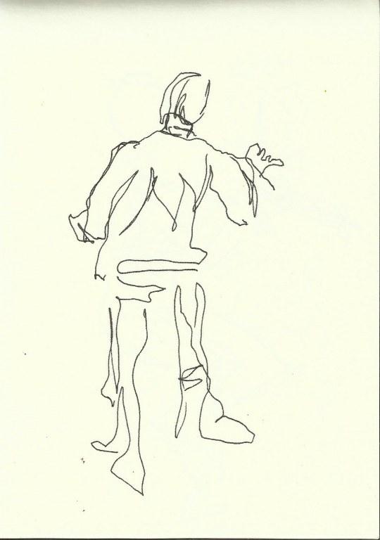 Im Konzerthaus - Dirigent (c) Zeichnung von Susanne Haun 0002