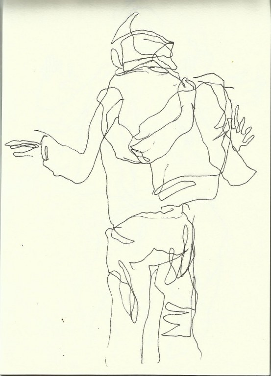 Im Konzerthaus - Dirigent (c) Zeichnung von Susanne Haun 0005