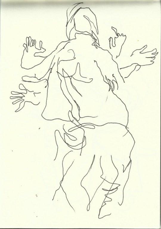 Im Konzerthaus - Dirigent (c) Zeichnung von Susanne Haun 0006