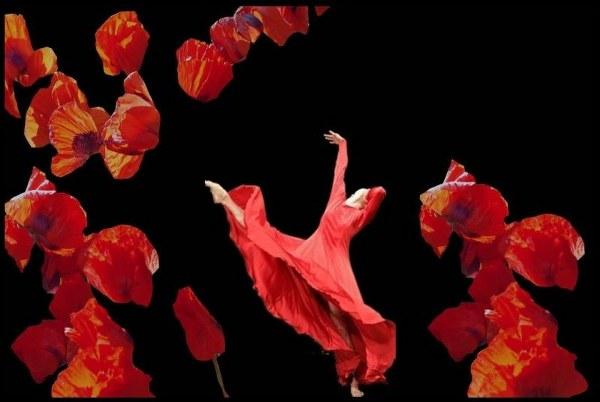 Ulli Gau Collage zum Thema Blumen