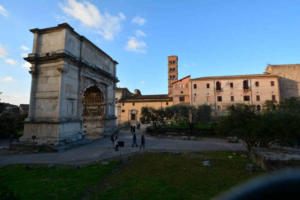 Der Titusbogen - Eingang zum Forum Romanum (c) Foto von M.Fanke
