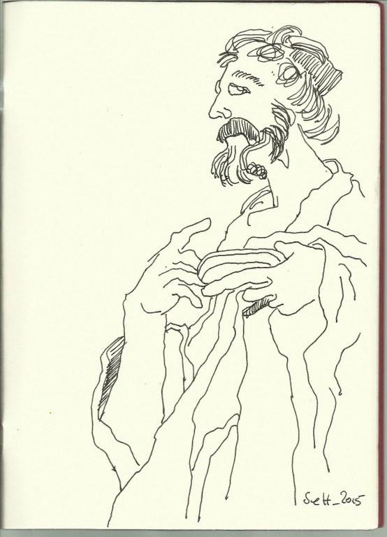Rund ums Kollosseum außen (c) Zeichnung von Susanne Haun