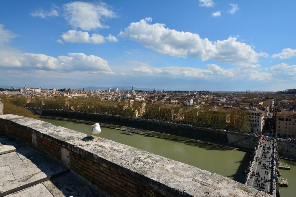 Blick aus der Engelsburg zur anderen Seite des Tibers (c) Foto von M.Fanke