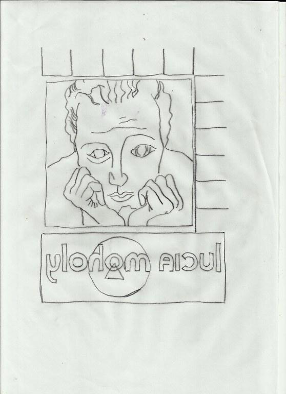 Bleistiftzeichnung für Übertragung Lucia Moholy (c) Zeichnung von Susanne Haun
