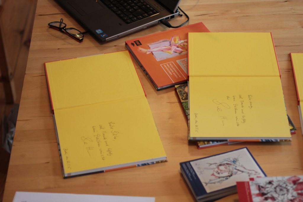 Signierstunde Susanne Haun Pastell Mixed Media (c) Foto von M.Fanke