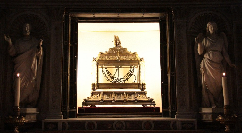 Die Ketten Petrus' - Reliquie in San Pietro in Vincoli (c) Foto von Susanne Haun