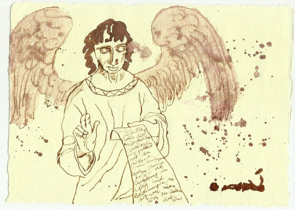 Schutzengel (c) Zeichnung von Susanne Haun