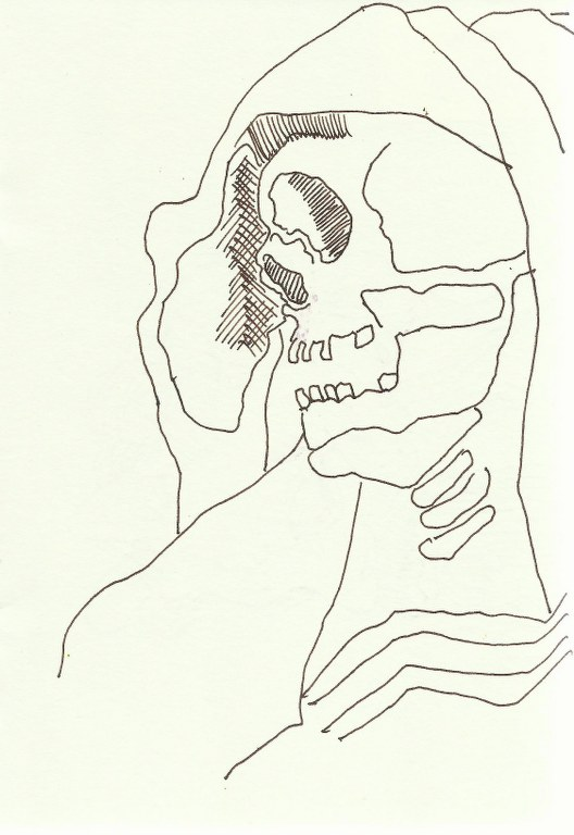 Skelett in S. Pietro in Vincoli (c) Zeichnung von Susanne 0002