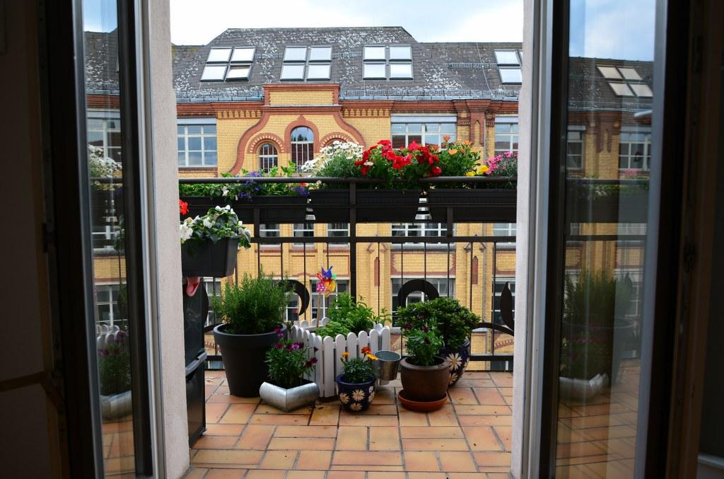 Balkon Susanne Atelierwohnung (c) Foto von Susanne Haun