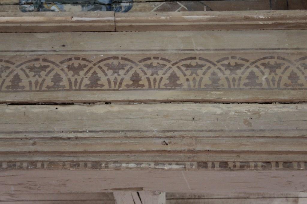 Die Holzbemalung der Roddahner spätbarocke Saalkirche (c) Foto von Susanne Haun