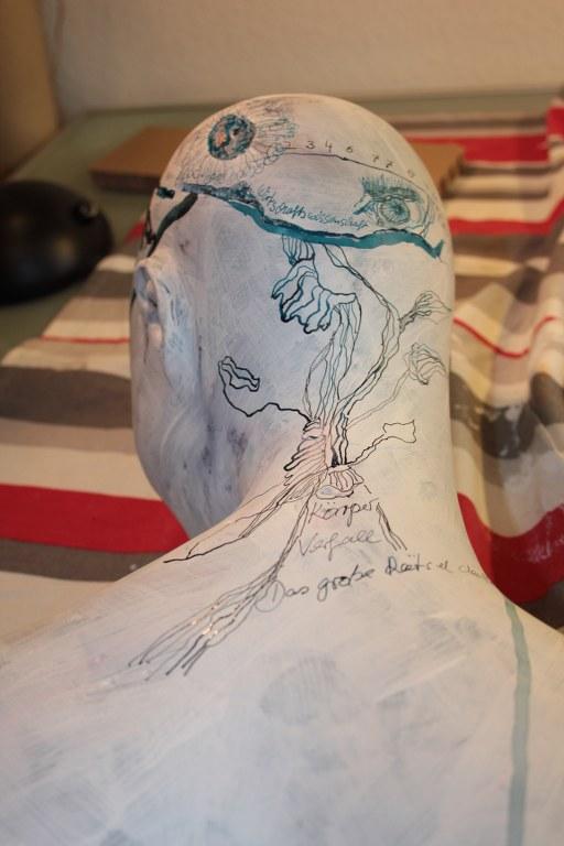 Maggie - Rückenansicht (c) Objekt Zeichnung von Susanne Haun