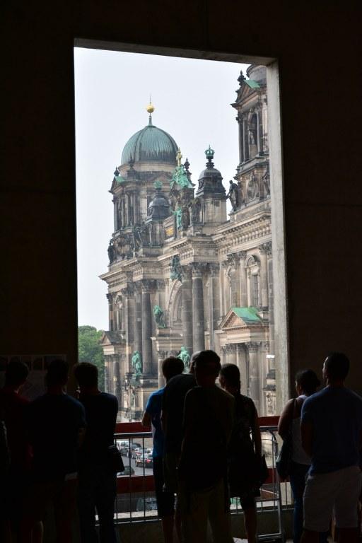 Sicht in den Regen vom Berliner Stadtschloss (c) Foto von M.Fanke