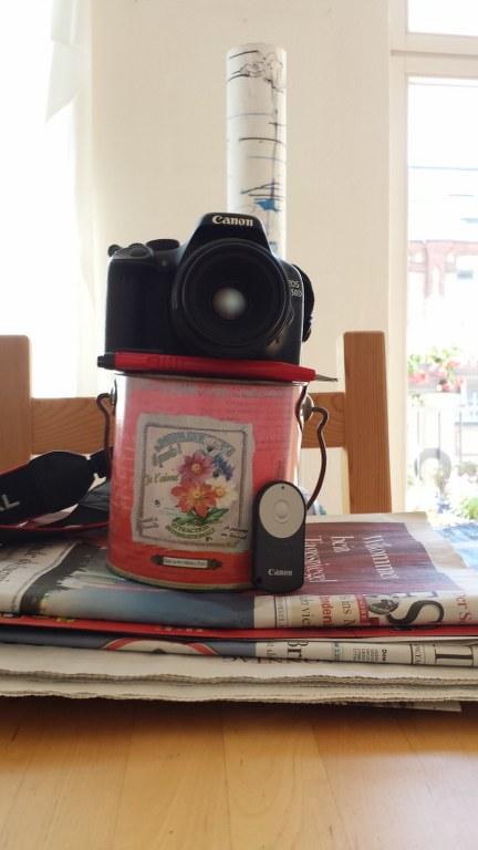 Konstruktion für ein Selfie (c) Foto von Susanne Haun