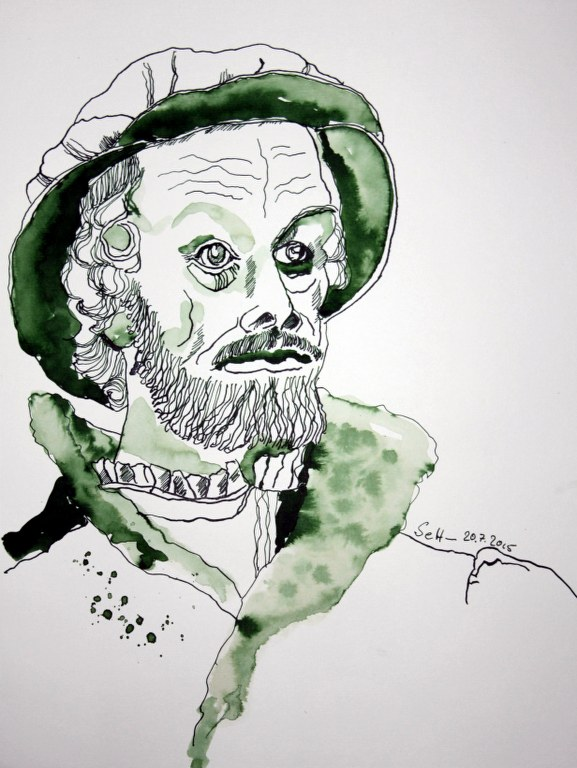 Mein Sinnbild von Melanchthon (c) Zeichnung von Susanne Haun