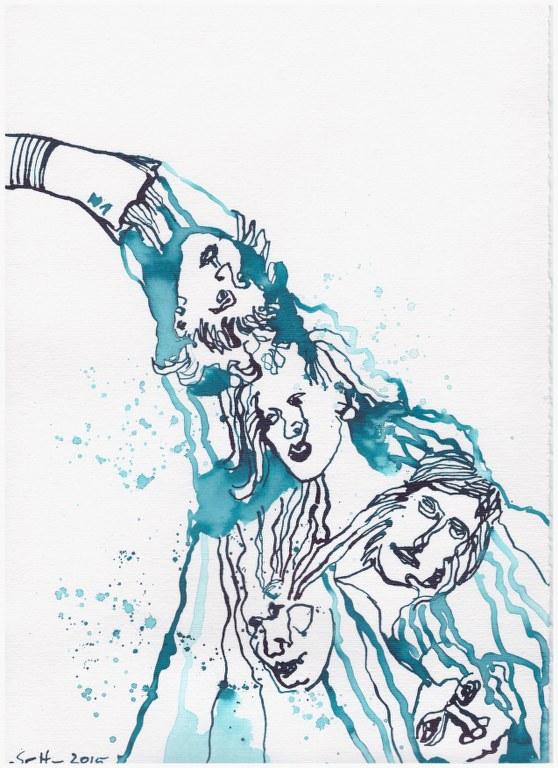 Weggegossen No. 1 (c) Zeichnung von Susanne Haun