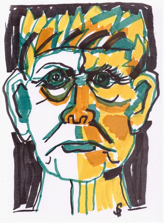 Moltke (c) Zeichnung mit Marker von Susanne Haun