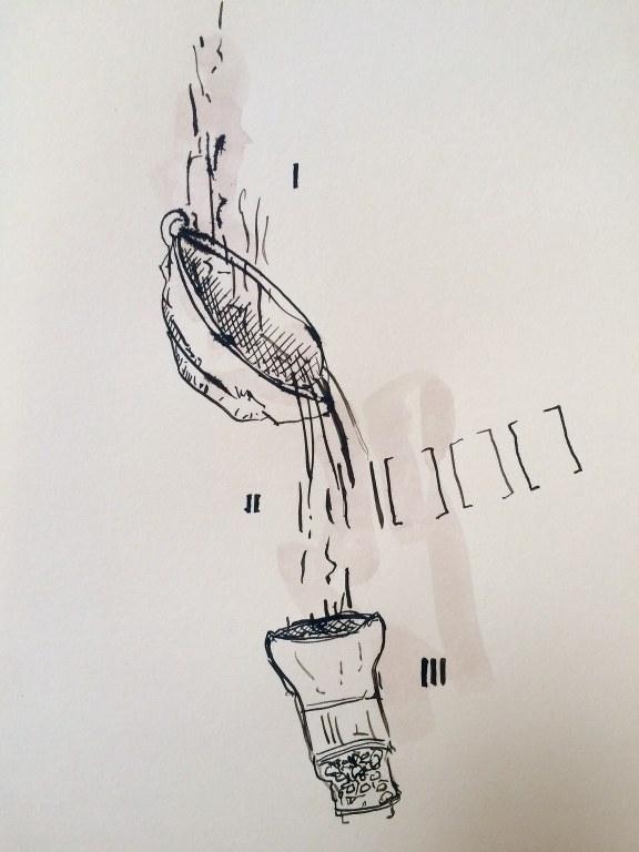 Weggegossen No. 2 (c) Zeichnung von Jürgen Küster