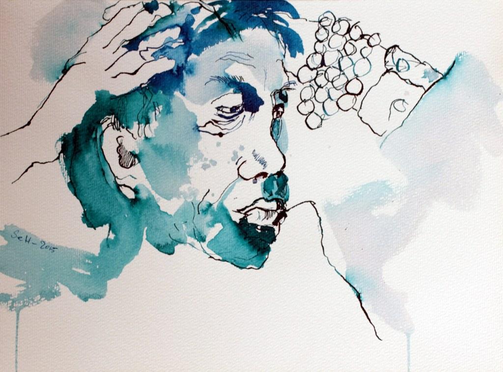 Volker Bild 1, 40 x 30 cm (c) Zeichnung von Susanne Haun