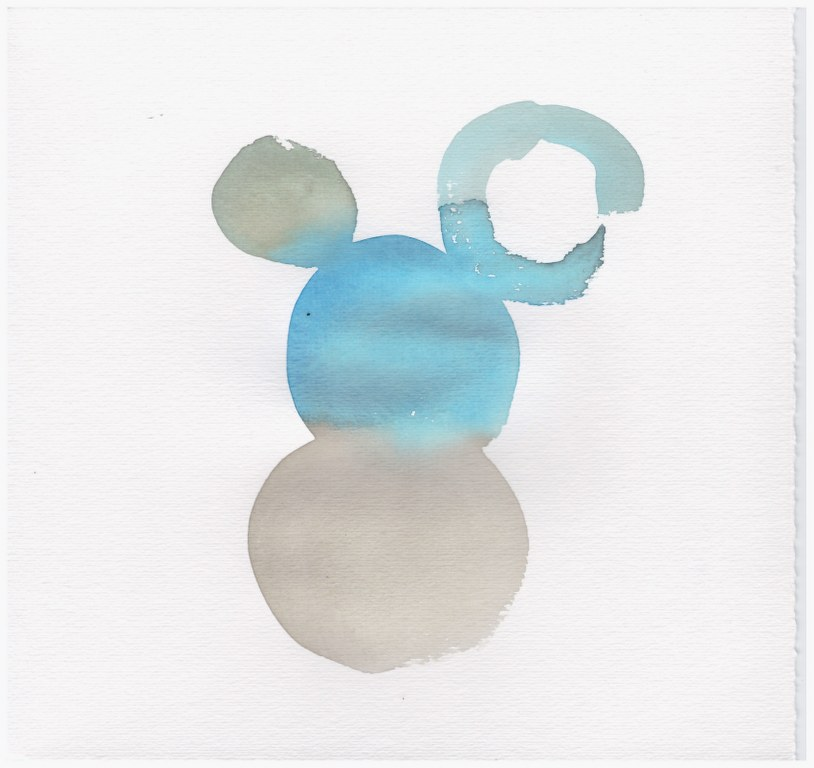 Farbspielerei Blau (c) Zeichnung von Susanne Haun