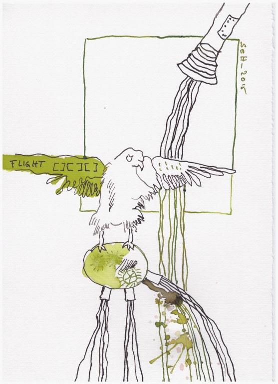 Weggegossen No. 12  (c) Zeichnung von Susanne Haun