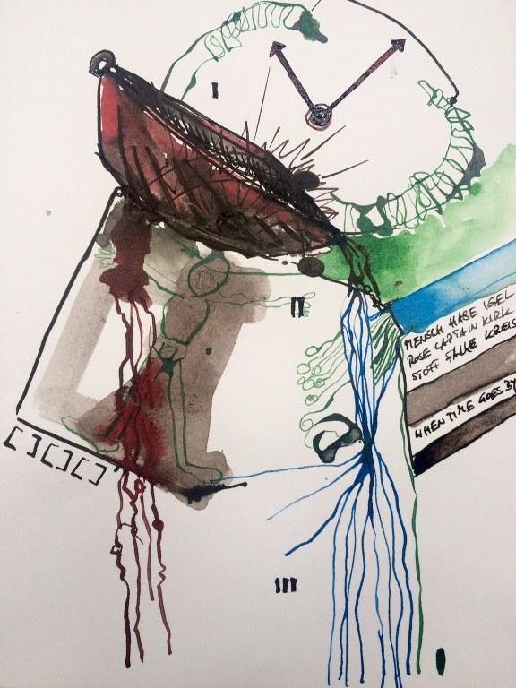 Weggegossen No. 18  (c) Zeichnung von Jürgen Küste