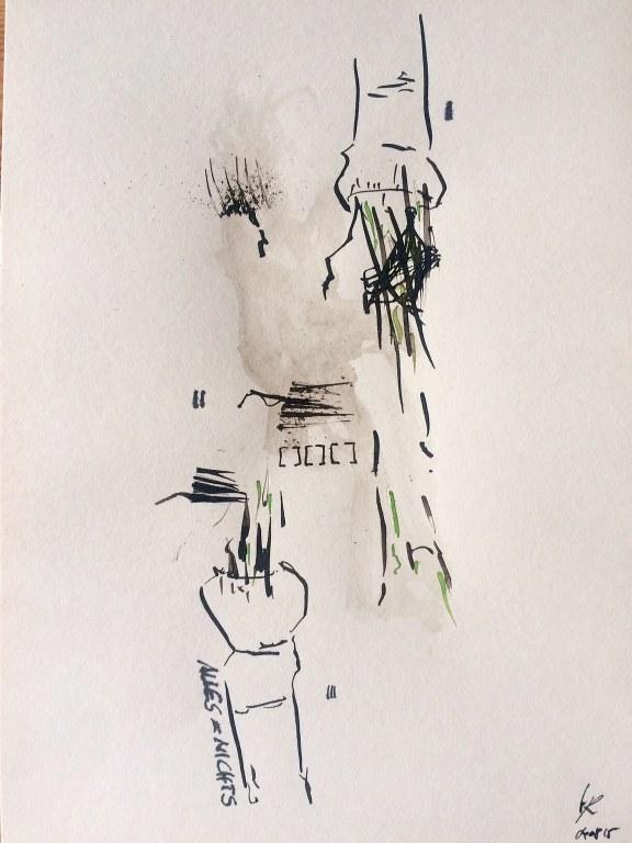 Weggegossen No. 4  (c) Zeichnung von Jürgen Küster